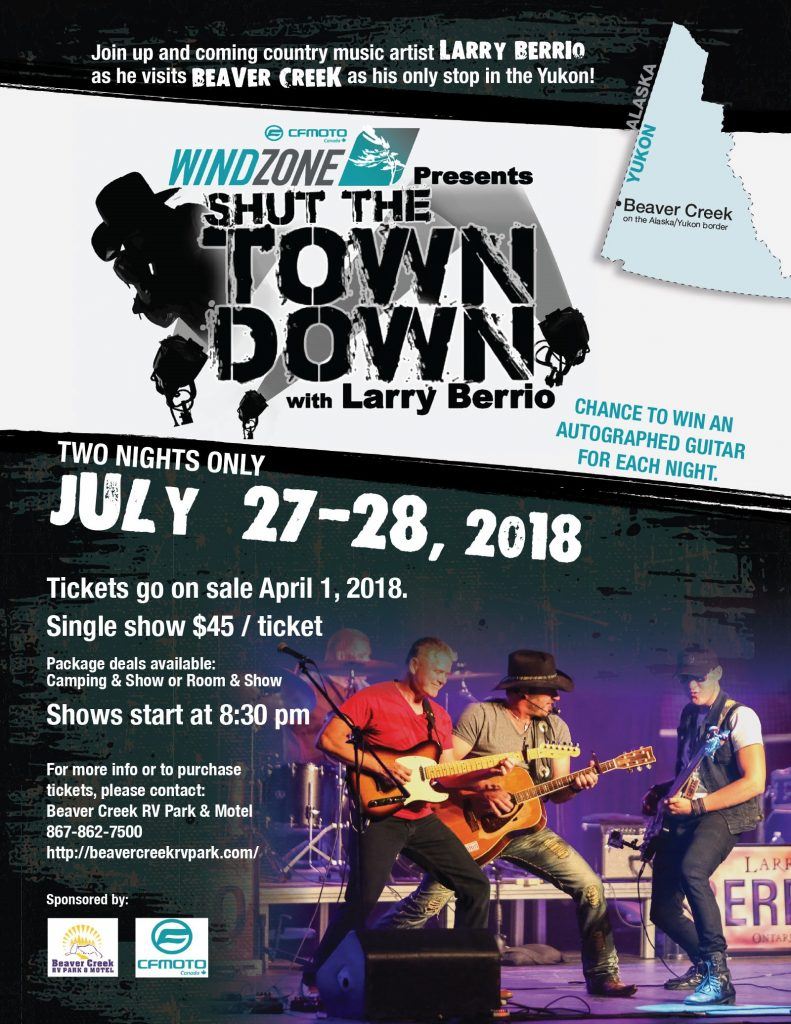 Larry Berrio July 27-28 2018 at Beaver Creek RV Park